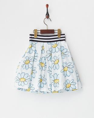シロ×ブルー  フラワープリントスカート(8Y~)見る