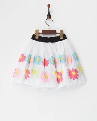 シロ フラワー刺繍スカート(4Y~)見る