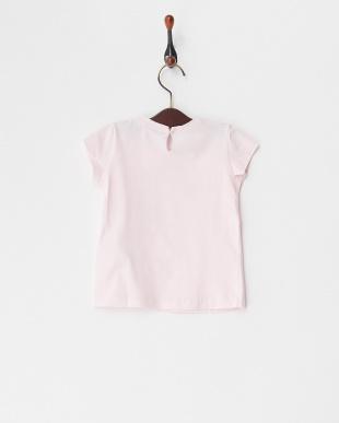 ピンク  ストーンロゴ&ローズTシャツ(12M~)見る