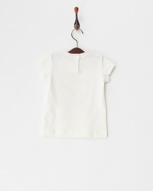 シロ  クリームガールプリントTシャツ(12M~)見る
