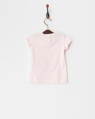 ピンク  クリームガールプリントTシャツ(12M~)見る
