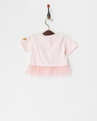 ピンク  スパンコールアイス&チュールプルオーバー(12M~)見る