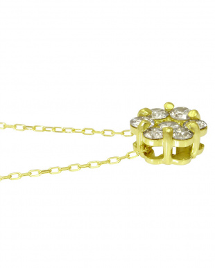 K18YG 天然ダイヤモンド 計0.8ctアップ セブンストーン ネックレス見る