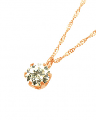 K18PG  天然ダイヤモンド 0.3ct SIクラス スクリューチェーン ネックレス見る