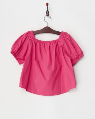 ピンク  パフ袖ブラウス(140以上)見る