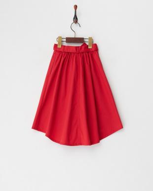 レッド  フィッシュテールスカート見る