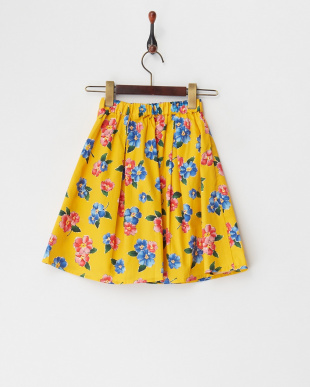 イエロー  花柄スカート(140以上)見る