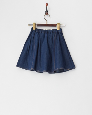 ライトブルー インナーパンツ付きデニムスカート(130以下)見る