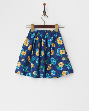 ネイビー  花柄スカート(130以下)見る
