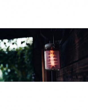 ピンク  ソーラー充電式ライト Grass Jar Star(B)見る