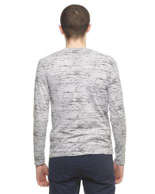 グレー  メランジカラー長袖Tシャツ見る