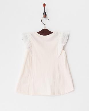 ピンク  プリーツTシャツ見る