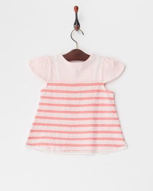ピンク  ボーダーTシャツ見る