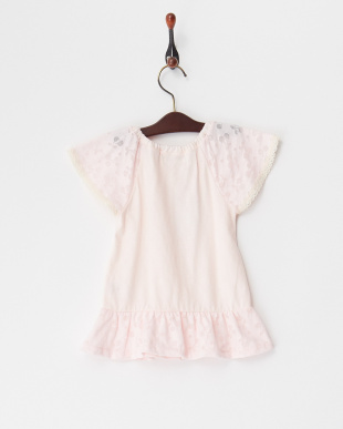 ピンク  フラワーTシャツ見る