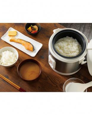 ホワイト 簡単コンパクト炊飯器見る