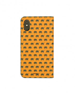 ELEPHANT  Foliocase Pattern iPhoneX用見る