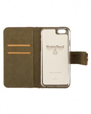 BLUE CHECK  Harris Tweed Foliocase iPhone 6 Plus/6s Plus用見る