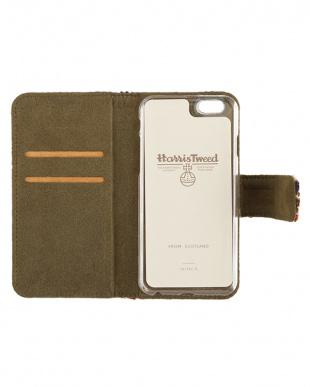 GREEN CHECK  Harris Tweed Foliocase iPhone 6 Plus/6s Plus用見る