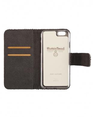 ORANGE CHECK  Harris Tweed Foliocase iPhone 6/6s 用見る