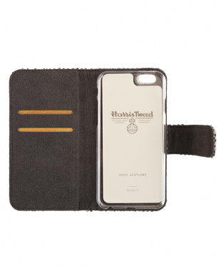 ORANGE CHECK  Harris Tweed Foliocase iPhone 6/6s 用見る