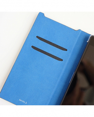 Black Blue  Foliocase Xperia Z5用見る