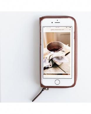 BROWN  ZIP-Around iPhone6 Plus用見る