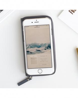 GRAY  ZIP-Around iPhone6 Plus用見る