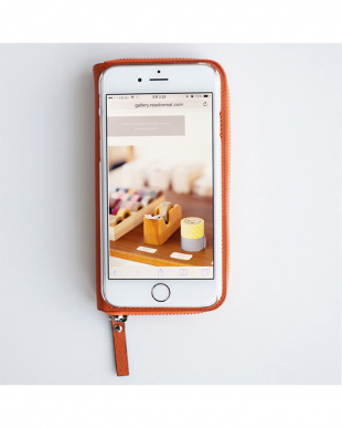 ORANGE  ZIP-Around iPhone6 Plus用見る