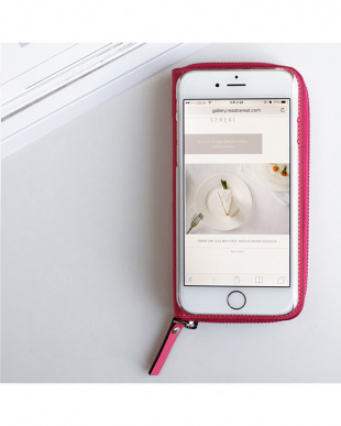 PINK  ZIP-Around iPhone6 Plus用見る