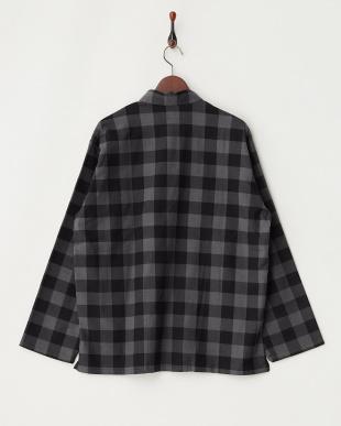 md/gry  VAINL ARCHIVE 起毛ブロックチェックシャツ見る