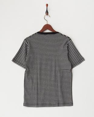 md/gry  Healthknit VネックボーダーTシャツ見る