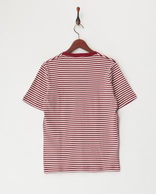 wine37  Healthknit VネックボーダーTシャツ見る