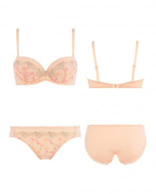 ピンク  AMST1130 WHU + Hikini 夢みるブラ プレミアム ブラ&ショーツセット見る