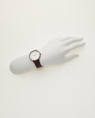 バーガンディ 腕時計 HALD|WOMEN見る