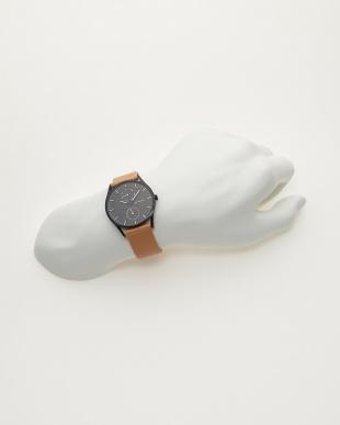 ブラック×ブラウン 腕時計 HOLST |MEN見る