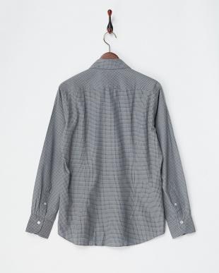 ブラウン/ネイビー ブラウン/ネイビー ダンガリープリントシャツ|MEN見る