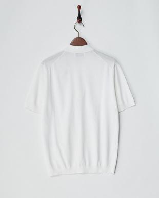ホワイト  コットン天竺ポロシャツ見る