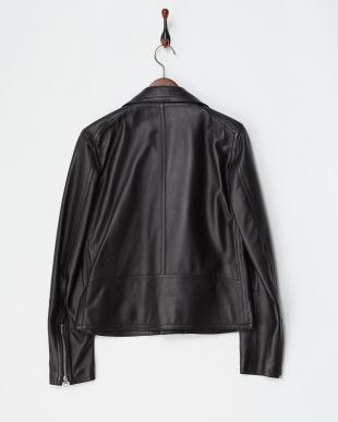 ブラック ブラック 羊革ライダースジャケット|MEN見る