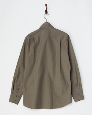 ブラウン ミリタリータイプライターシャツ|MEN見る