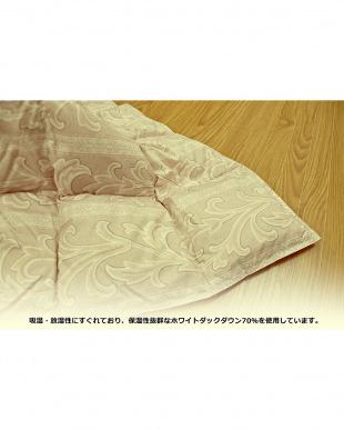 ベージュ  洗える羽毛こたつ布団 ホワイトダックダウン70%使用 190×240cm 長方形見る