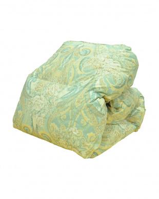 グリーン  [シングル]カナダ産ホワイトダックダウン85%使用 羽毛布団3点セット見る