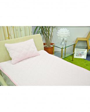 ピンク  [セミダブル]FEEL COOL ひんやり接触冷感敷きパッド見る