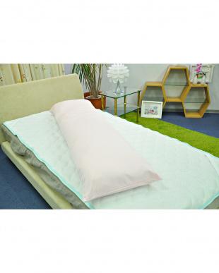 ピンク  FEEL COOL ひんやり接触冷感 抱き枕 50×160cm見る