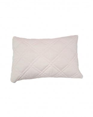 ピンク  [高め]FEEL COOL 抗菌防臭・消臭わた入り ひんやり接触冷感枕見る
