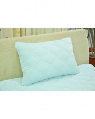 ブルー  [高め]FEEL COOL 抗菌防臭・消臭わた入り ひんやり接触冷感枕見る