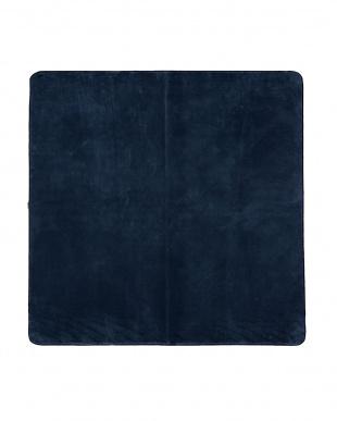 ブルー  洗えるミンクタッチラグ 185×185cm見る