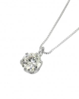 PT 天然ダイヤモンド 0.3ct VVSクラス 6本爪ネックレス 鑑定書付見る