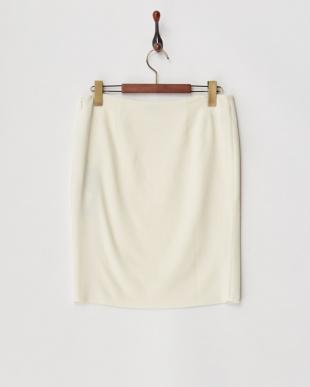 オフホワイト  ラップ風タイトスカート見る