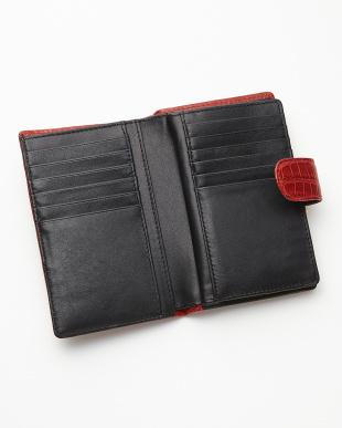レッド  2つ折り クロコダイル財布見る