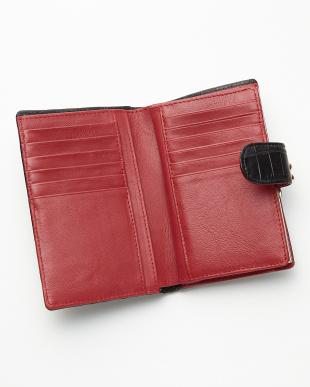 ブラック  2つ折り クロコダイル財布見る